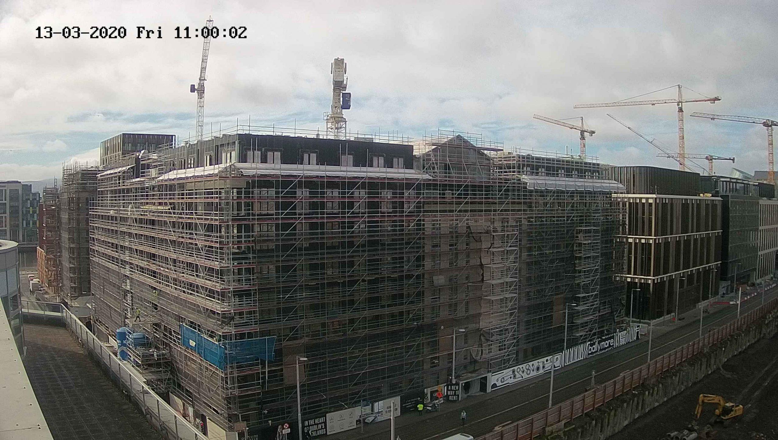 Compare images Dublin Landings construction progress