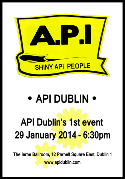 Shiny API People …. Come along on Wednesday 29th January to The Ierne Ballroom