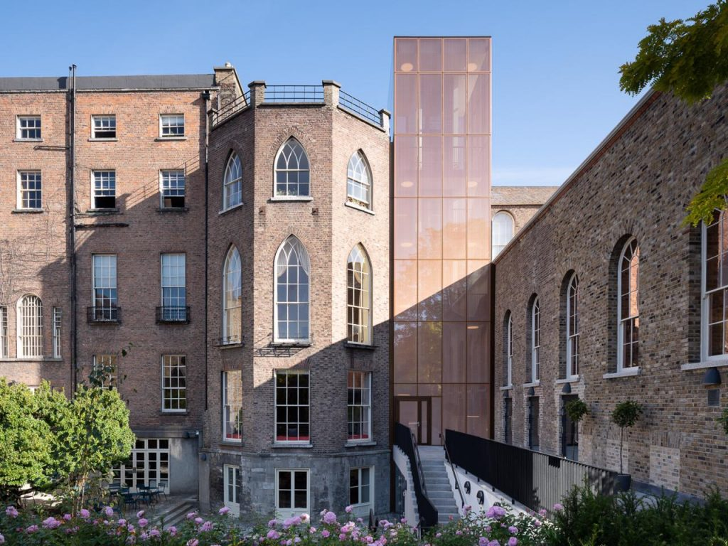 facade of the MoLI - Museum of Literature Ireland