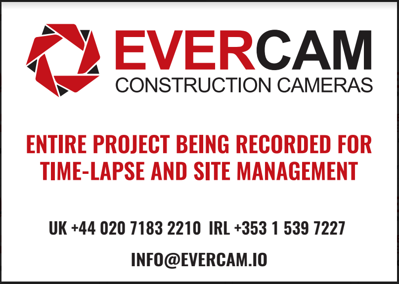 The is a banner for Evercam Construction Cameras Advertisement.