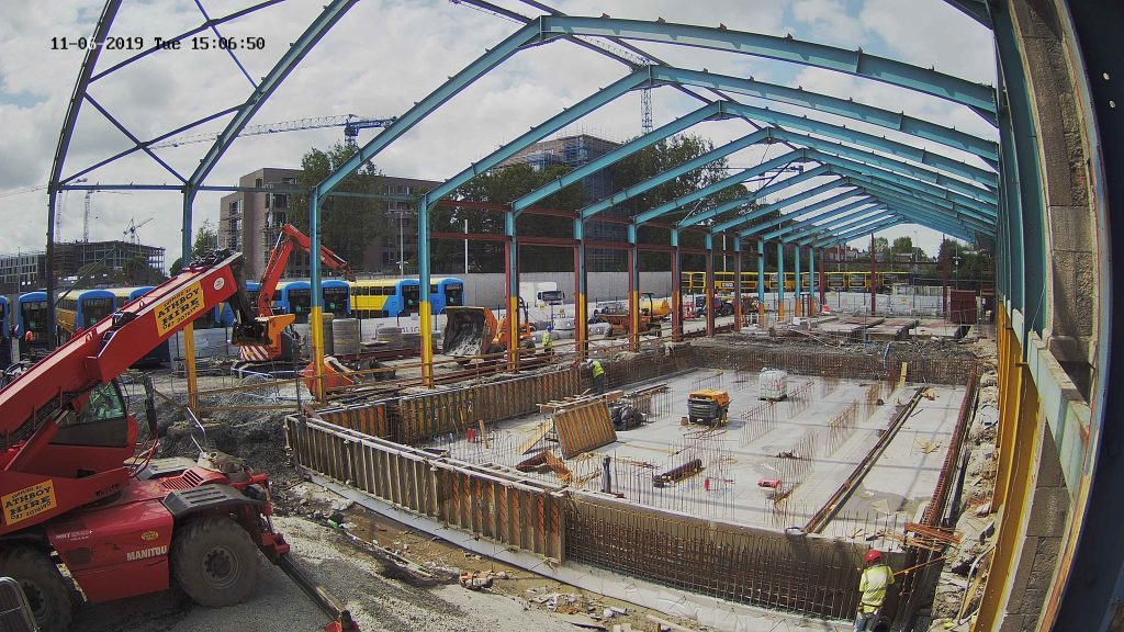 Construction in Progress Dublin Bus Broadstone Garage Project