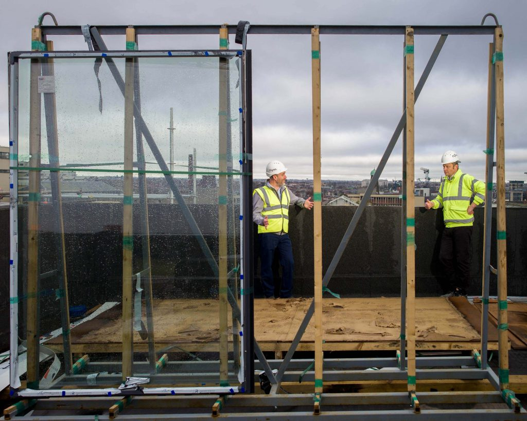 Richard Watson, Managing Partner DBIC Ventures and Marco Herbst, CEO of Evercam on a construction site.
