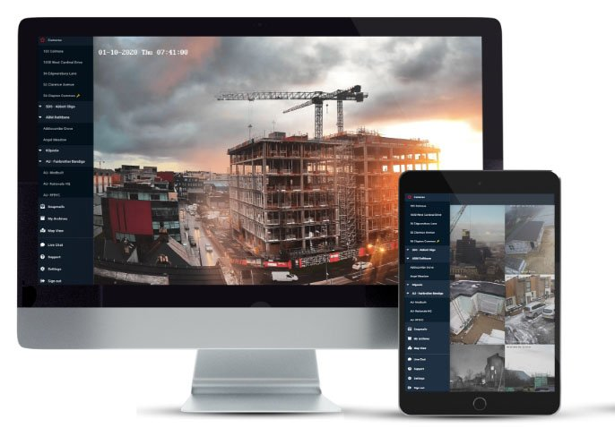 Evercam construction cameras available on all devices